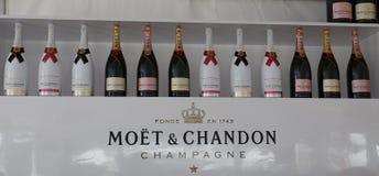 Le champagne de Moet et de Chandon a présenté à Miami 2019 s'ouvrent au stade de hard rock à Miami image libre de droits