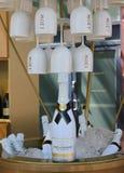 Le champagne de Moet et de Chandon a présenté au centre national de tennis pendant l'US Open 2014 Image stock