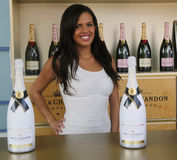 Le champagne de Moet et de Chandon a présenté au centre national de tennis pendant l'US Open 2016 Photographie stock