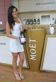 Le champagne de Moet et de Chandon a présenté au centre national de tennis pendant l'US Open 2016 Image stock