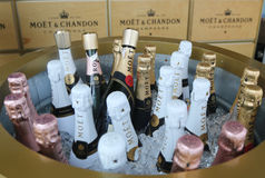 Le champagne de Moet et de Chandon a présenté au centre national de tennis pendant l'US Open 2016 Photo stock