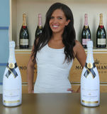 Le champagne de Moet et de Chandon a présenté au centre national de tennis pendant l'US Open 2016 Images stock