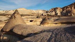 Le champignon a formé la formation de roche féerique de cheminées en vallée de Pasabag Photos libres de droits