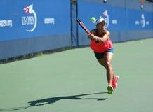 Le champion Angelique Kerber de Grand Chelem de l'Allemagne pratique pour l'US Open 2016 Photo libre de droits