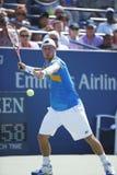 Le champion Lleyton Hewitt de Grand Chelem de deux fois pratique pour l'US Open 2013 Photo libre de droits
