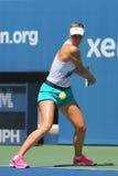Le champion Maria Sharapova de Grand Chelem de cinq fois pratique pour l'US Open 2014 Image stock