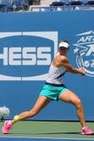 Le champion Maria Sharapova de Grand Chelem de cinq fois pratique pour l'US Open 2014 Images libres de droits
