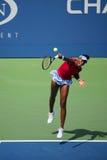 Le champion Venus Williams de Grand Chelem pendant le quart de finale double le match à l'US Open 2014 Photos libres de droits