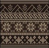 Le chandail de tricotage de modèle fleurit 22578 illustration stock