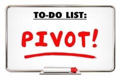 Le changement de pivot adaptent le modèle économique Rethink Writing Word Photographie stock