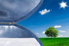 Le changement des saisons illustration libre de droits