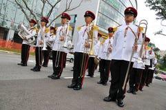 Le changement du président de Singapour du défilé de dispositifs protecteurs Photographie stock libre de droits