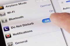 Le changement ne touchent pas au mode sur un iPad Photo libre de droits