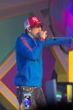 Le chanteur J Jetrin sur l'étape 06 2014 chez Pataya Thaïlande Photos stock