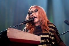 Le chanteur, le compositeur, le pianiste et la compositrice de Tori Amos exécute au bruit 2015 de Primavera Photographie stock libre de droits