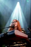 Le chanteur, le compositeur, le pianiste et la compositrice de Tori Amos exécute au bruit 2015 de Primavera Photo libre de droits