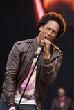 Le chanteur Lemar de R&B exécutant au BT Londres vivent 2012 Photographie stock libre de droits