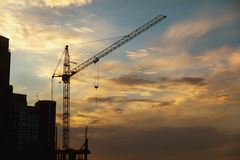 Le chantier de construction Image libre de droits