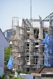 Le chantier de construction de Balinese, chantier, préparent pour le coffre-fort de travail Images stock