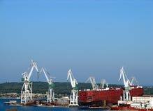 Le chantier naval Photos libres de droits