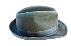 Le chapeau de l'homme gris Photographie stock