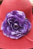 Le chapeau de la rétro dame Photos libres de droits