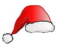 Le chapeau de Santa d'isolement sur le blanc Photos libres de droits