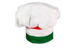 Le chapeau du chef italien images stock