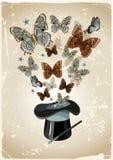 Le chapeau du magicien illustration de vecteur
