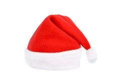 Le chapeau rouge de Santa d'isolement Photos stock