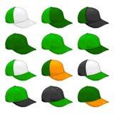 Le chapeau vert, variété de vecteur des combinaisons de couleurs couvrent le calibre illustration stock