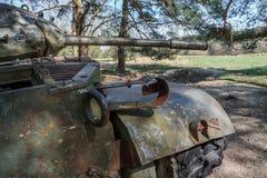 Le char de combat amarrent dedans Image libre de droits