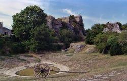 Le chariot abandonné Image stock