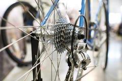 Le chariot avec la roue arrière à chaînes folâtre le vélo de montagne Photo stock