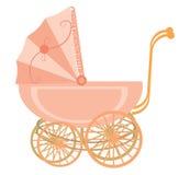 Le chariot des enfants pour la fille Images libres de droits