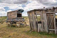 Le chariot du shérif ancien de cowboy Images libres de droits