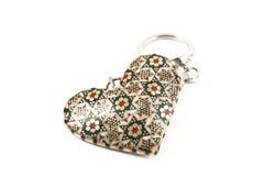 Le charme-coeur dans le tecnics de khatam, images libres de droits