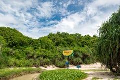 Le charme naturel de la plage de Greweng images libres de droits