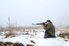 Le chasseur Photographie stock
