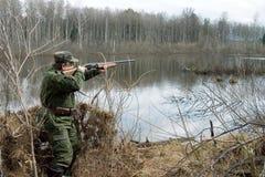 Le chasseur Images libres de droits