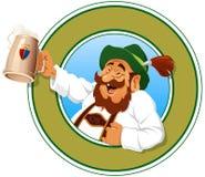 Le chasseur de bière illustration de vecteur