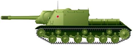 """Le chasseur de chars WW2 ISU-152 a surnommé le """"tueur de bête """" illustration stock"""