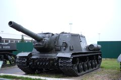 Le chasseur des chars ISU-152 lourd Image stock
