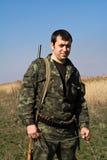 Le chasseur est dans le déguisement Photo libre de droits