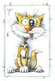 Le chat gai illustration de vecteur