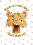 Le chat souhaite un beau jour Images stock