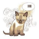 Le chat sur le fond bizarre illustration stock