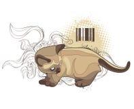 Le chat sur le fond bizarre illustration de vecteur