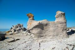 Le chateau和agneau monolithe在Mingan 免版税库存图片