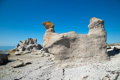 Le chateau e monolithe di agneau in Mingan immagini stock libere da diritti